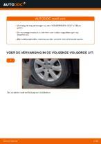 Hoe u de achterste stabilisatorkoppelstang van een Volkswagen Golf V (1K) kunt vervangen