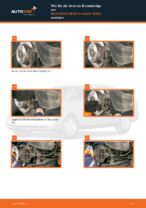 Wie Bremsklötze MERCEDES-BENZ C-CLASS auswechseln und einstellen: PDF-Anleitung