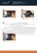 Hvordan man udskifter bremseklodser til skivebremser i for på AUDI A4 В5