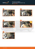 Hvordan man udskifter bremseklodser til skivebremer i bag på AUDI A4 В5