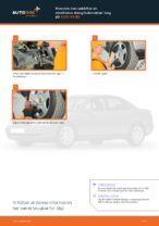 Hvordan man udskifter en stabilisator stang/forbindelse i bag på AUDI A4 В5