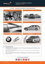 Hvordan man udskifter viskerblade i for på BMW 5 E60