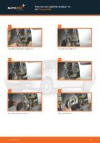 Skift af Hjullejesæt PEUGEOT 406 Break (8E/F) - trin-for-trin vejledning