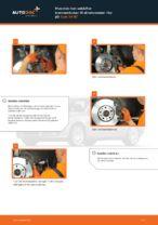 Hvordan man udskifter bremseklodser til skivebremser i for på Audi A4 В7
