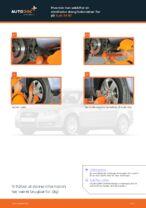 Hvordan man udskifter en stabilisator stang/forbindelse i for på Audi A4 В7