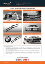 Hvordan man udskifter viskerblade i for på BMW 3 E36