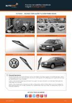 Hvordan man udskifter viskerblade i bag på Volkswagen Golf III
