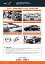 Cómo cambiar las escobillas delanteras de limpiaparabrisas en Opel Astra G