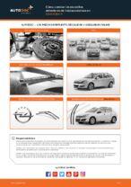 Cómo cambiar las escobillas delanteras de limpiaparabrisas en Opel Astra H