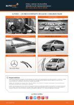 Cuándo cambiar Plumas limpiaparabrisas MERCEDES-BENZ VIANO (W639): manual pdf