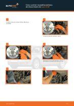 Cómo sustituir las pastillas de freno de discos trasero en Audi A4 В7