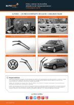 Cómo cambiar las escobillas delanteras de limpiaparabrisas en Volkswagen Golf III