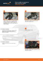 Cómo cambiar las zapatas de freno de tambor trasero Volkswagen Golf III