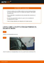 Cómo cambiar las escobillas delanteras de limpiaparabrisas en FIAT PUNTO 188