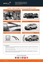 Cambio Spazzole tergicristallo istruzioni pdf per HONDA CR-V