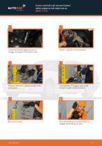 Come sostituire gli ammortizzatori della sospensione anteriore su BMW 3 E36