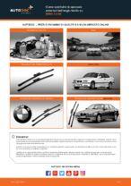 Come sostituire le spazzole anteriori del tergicristallo su BMW 3 E36