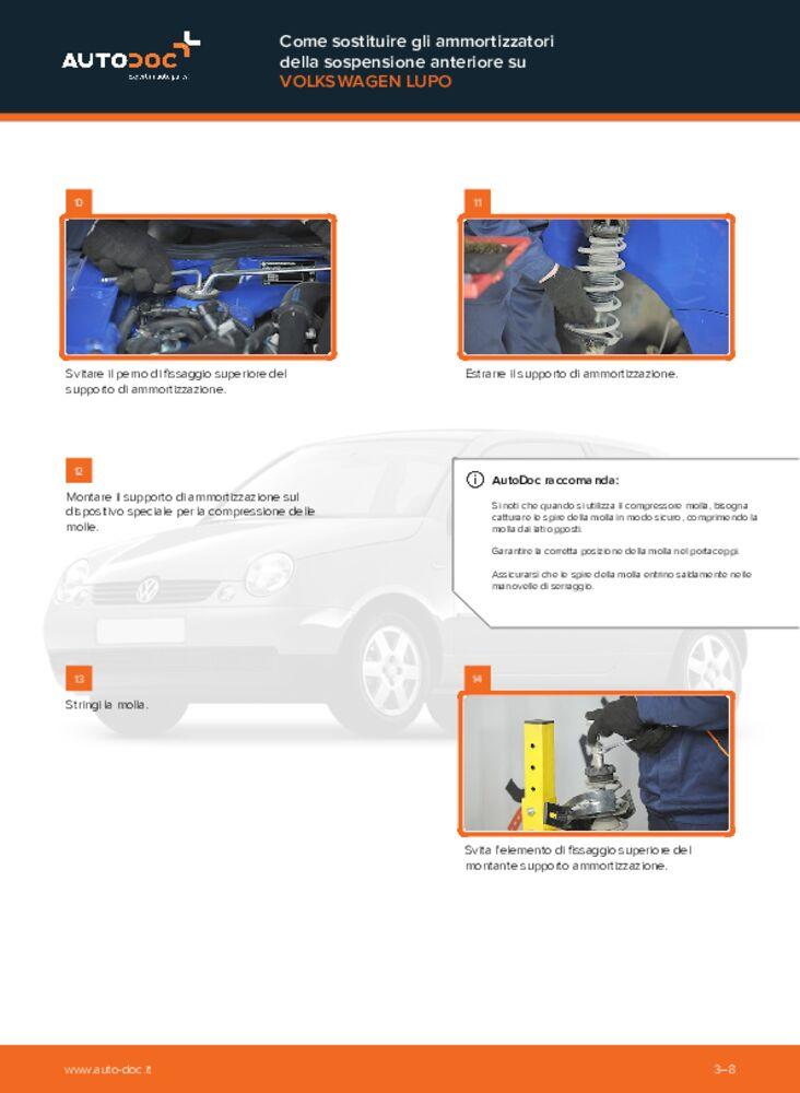 Come effettuare una sostituzione di Ammortizzatori su 1.2 TDI 3L VW Lupo 6x1