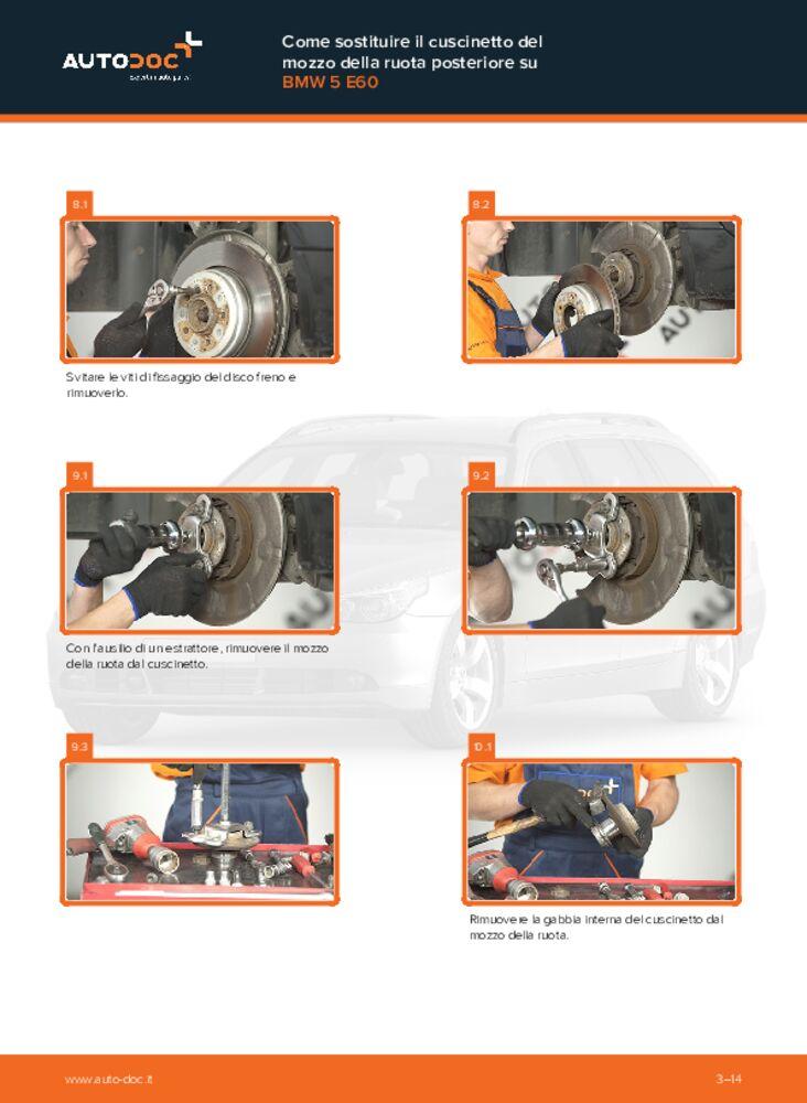 Come effettuare una sostituzione di Cuscinetto Ruota su 530d 3.0 BMW E60
