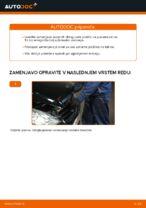 Menjava zadaj in spredaj Zavorne Ploščice MERCEDES-BENZ naredi sam - navodila pdf na spletu