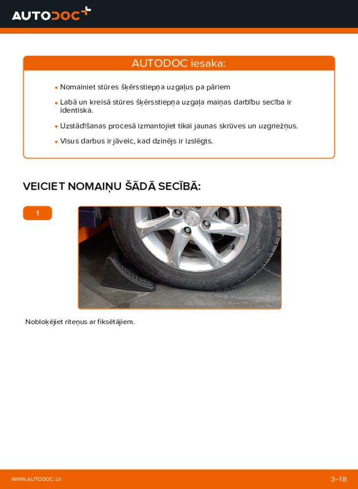 Kā veikt nomaiņu: 2.0 d BMW X3 E83 Stūres šķērsstiepņa uzgalis