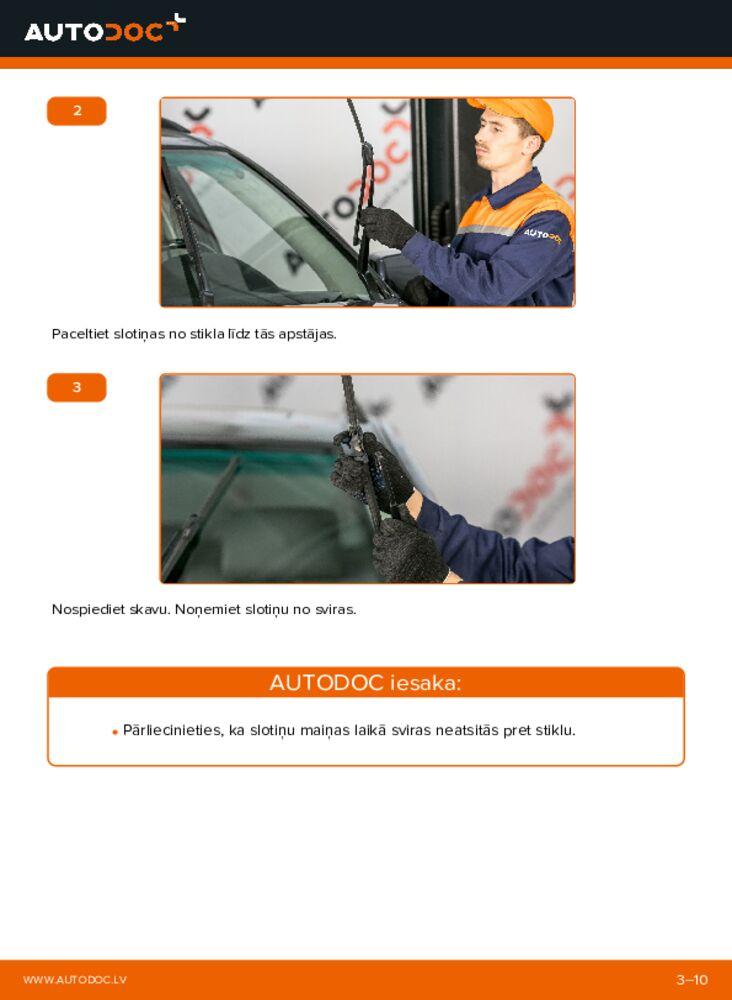 Kā veikt nomaiņu: 3.0 d BMW E53 Stikla tīrītāja slotiņa