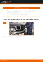 How to replace and adjust Brake caliper BMW X5: pdf tutorial