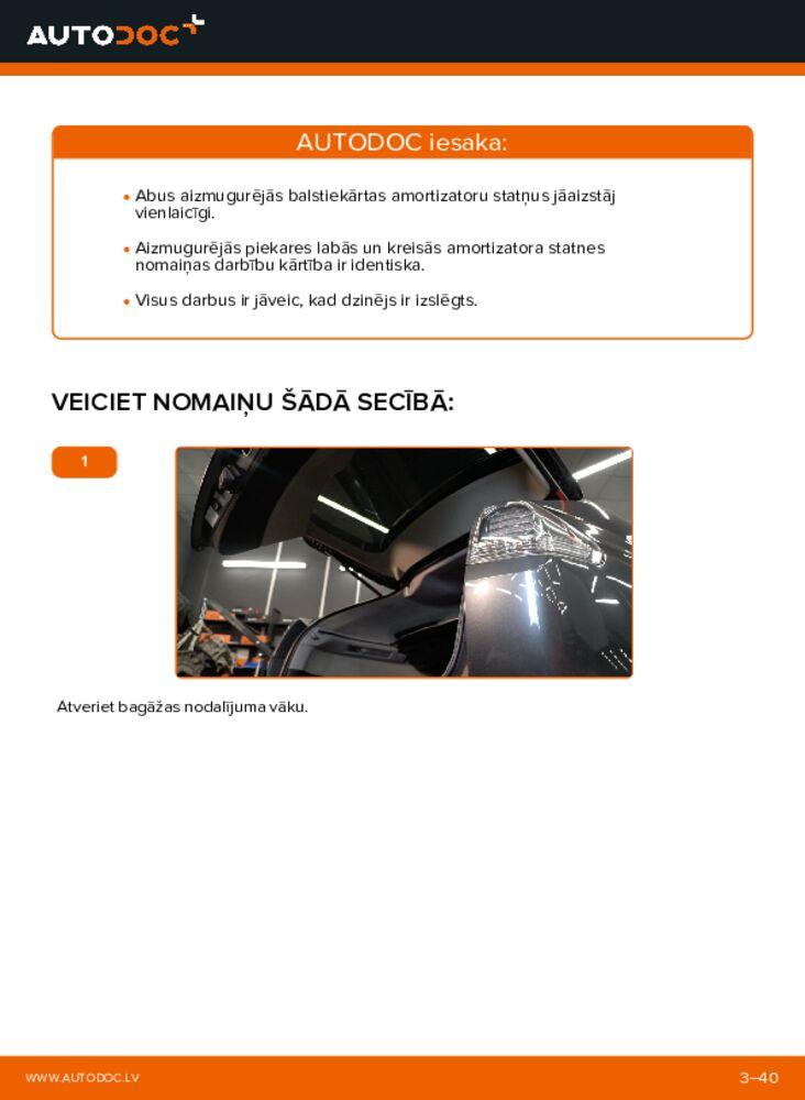 Kā veikt nomaiņu: 3.3 400h AWD Lexus RX XU30 Amortizators