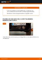 Austauschen von Motorluftfilter Anweisung PDF für ALFA ROMEO 159