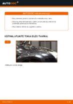 Kaip pakeisti priekinės pakabos amortizatoriaus statramstį Ford Focus 2 DA