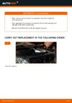 DIY LEXUS change Coil springs front left right - online manual pdf