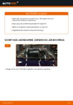 Kuidas vahetada esimesi klaasipuhasteid autol VW Passat Variant 3C5