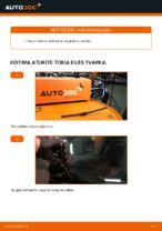 Kaip pakeisti ir sureguliuoti Stiklo valytuvai VW PASSAT: pdf pamokomis