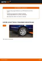 Hvordan bageste forbindelsesstang på VW Passat Variant 3C5 udskiftes