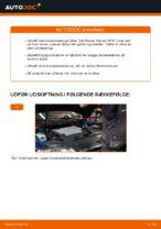 Hvordan bremseskiverne bag på VW Passat Variant 3C5 udskiftes
