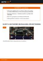Kuinka vaihtaa etu pyyhkijänsulat VW Passat Variant 3C5 malliin