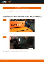 Kuinka vaihtaa taka pyyhkijänsulat VW Passat Variant 3C5 malliin