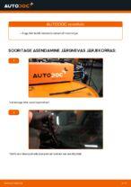Kuidas vahetada tagumisi klaasipuhasteid autol VW Passat Variant 3C5
