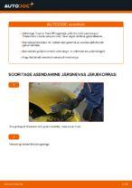 Piduritrummel vahetus: pdf juhend TOYOTA YARIS