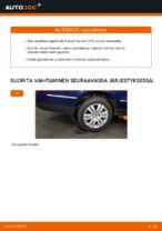 Kuinka vaihtaa takapyörännavan laakerit VW Passat Variant 3C5 malliin