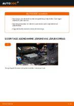 Kuidas vahetada tagumisi piduriklotse või pidurikettaid VW Passat Variant 3C5