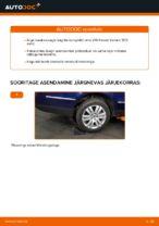 VW eesmine vasak parem Rattalaager vahetamine DIY - online käsiraamatute pdf