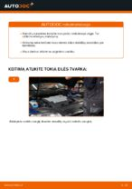 Stabdžių Kaladėlės keitimas: pdf instrukcijos VW PASSAT