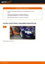 Hvordan installeres den foreste krængningsstabilisator på VW Passat Variant 3C5