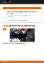 Hvordan bremseskiverne foran på VW Passat Variant 3C5 udskiftes