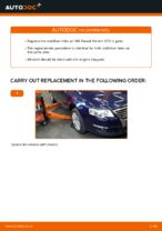 Step by step PDF-tutorial on Anti Roll Bar Links VW PASSAT Variant (3C5) replacement