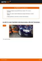 Kuinka vaihtaa ja säätää Kallistuksenvakaajan yhdystanko VW PASSAT: pdf-opas