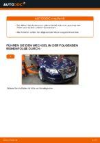 Wie Sie den Unterarm der vorderen Einzelradaufhängung am VW Passat Variant 3C5 ersetzen