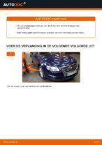 Hoe de onderste draagarm van de voorste onafhankelijke ophanging van een VW Passat Variant 3C5 vervangen