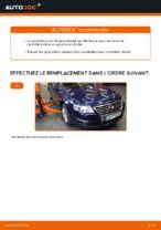 Comment remplacer l'arbre inférieur de la suspension indépendante avant sur une VW Passat Variant 3C5